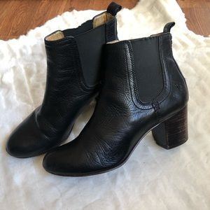 Frye Black leather booties size 7.5